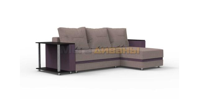 "Угловой диван ""Индиана"" - Era lavender / violet"