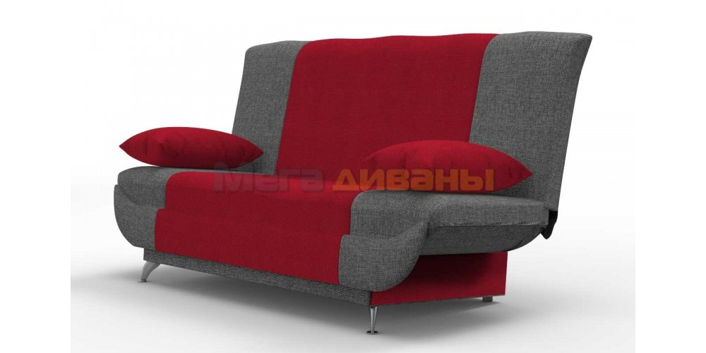 """Диван книжка """"Ирида"""" - Wool red / graphite"""